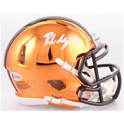 Baker Mayfield Signed Cleveland Browns Chrome Speed Mini-Helmet (Beckett COA)