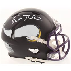 Adam Thielen Signed Minnesota Vikings Matte Black Mini Speed Helmet (Beckett COA)