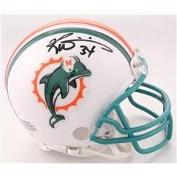 Ricky Williams Signed Miami Dolphins Throwback Mini Helmet (JSA COA)
