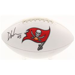 Devin White Signed Tampa Bay Buccaneers Logo Football (Beckett COA)