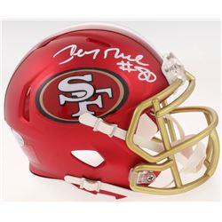 Jerry Rice Signed San Francisco 49ers Blaze Speed Mini Helmet (Beckett COA)