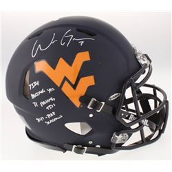 Will Grier Signed West Virginia Mountaineers Full-Size Matte Black Authentic On-Field Speed Helmet w