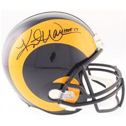 "Kurt Warner Signed St. Louis Rams Full-Size Throwback Helmet Inscribed ""HOF 17"" (JSA COA)"