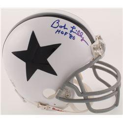 "Bob Lilly Signed Dallas Cowboys Throwback Mini Helmet Inscribed ""HOF '80"" (JSA COA)"