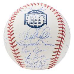 """2008  New York Yankees """"Yankee Stadium"""" Logo OML Baseball Team-Signed by (29) with Derek Jeter, Mike"""
