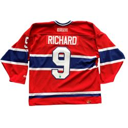 Maurice Richard Signed Montreal Canadiens Jersey (Beckett COA)