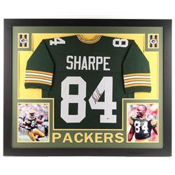 Sterling Sharpe Signed 35x43 Custom Framed Jersey (Beckett COA)
