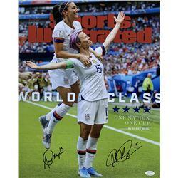 Alex Morgan  Megan Rapinoe Signed Team USA 16x20 Photo (JSA COA)