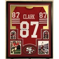 Dwight Clark Signed 34x42 Custom Framed Jersey (JSA COA)