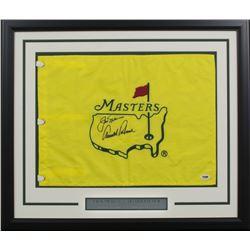 Arnold Palmer  Jack Nicklaus Signed 20x24 Custom Framed Masters Pin Flag Display (PSA LOA)