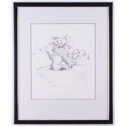 "Stanley Mouse Signed ""Dancing Bear"" 17.5x21.5 Custom Framed Sketch Display (Beckett LOA)"