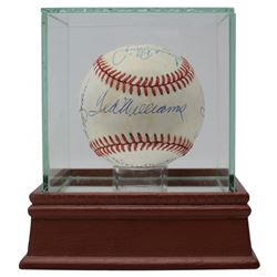 500 Home Run Club OAL Baseball Signed by (11) with Mickey Mantle, Ted Williams, Hank Aaron, Willie M