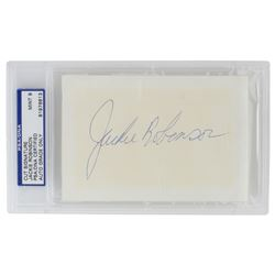 Jackie Robinson Signed Cut (PSA Encapsulated)
