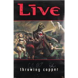 "Ed Kowalczyk, Chad Taylor,  Patrick Dahlheimer Signed ""Throwing Copper"" 22.5x34.5 Poster (JSA COA)"