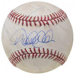Derek Jeter Signed OML Baltimore Orioles 60th Anniversary Logo Game-Used Baseball (Seiner COA  MLB H