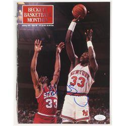 Patrick Ewing Signed Beckett Basketball Monthly Magazine Cover (JSA COA)