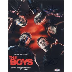"""""""The Boys"""" 11x14 Poster Print Signed By (7) with Karl Urban, Karen Fukuhara, Laz Alonso, Chace Crawf"""