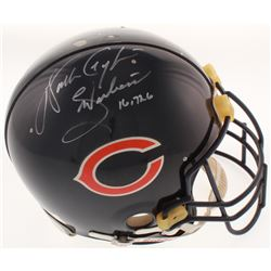 """Walter Payton Signed Chicago Bears Full-Size Authentic On-Field Helmet Inscribed """"Sweetness""""  """"16,72"""