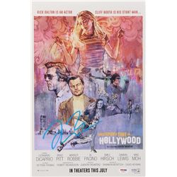 """Quentin Tarantino Signed """"Once Upon a Time in Hollywood"""" 12x18 Movie Poster Print (PSA COA)"""