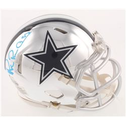 Michael Irvin Signed Dallas Cowboys Chrome Speed Mini Helmet (Beckett COA)