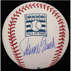 Johnny Bench Signed OML Hall of Fame Logo Baseball (MLB Hologram)
