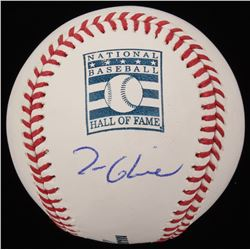 Tom Glavine Signed OML Hall of Fame Logo Baseball (JSA COA)