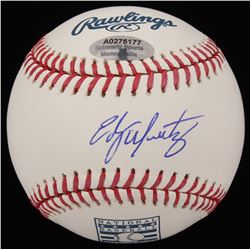 Edgar Martinez Signed Hall of Fame OML Baseball (Schwartz COA)