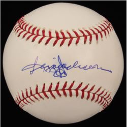 Reggie Jackson Signed OML New York Yankees 100th Anniversary Logo Baseball (JSA COA)