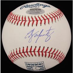 Edgar Martinez Signed OML Hall of Fame Logo Baseball (Schwartz COA)