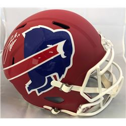 Josh Allen Signed Buffalo Bills Full-Size AMP Alternate Speed Helmet (Beckett Hologram)