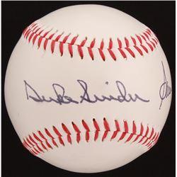 Sandy Koufax  Duke Snider Signed OL Baseball (Beckett LOA)