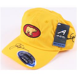 """Jack Nicklaus Signed Play Yellow Campaign """"Golden Bear"""" Adjustable Hat (JSA COA)"""