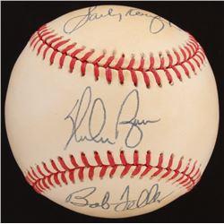 Sandy Koufax, Nolan Ryan,  Bob Feller Signed OAL Baseball (Beckett LOA)