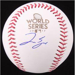 George Springer Signed Official 2017 World Series Baseball (JSA COA)