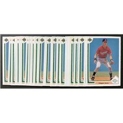 Lot of (30) 1991 Upper Deck #55 Chipper Jones RC
