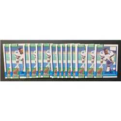 Lot of (15) 1990 Topps Traded #27T Emmitt Smith RC
