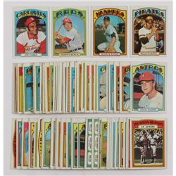 Lot of (100) 1972 Topps Baseball Cards With #447 Willie Stargell, #441 Thurman Munson, #433 Johnny B
