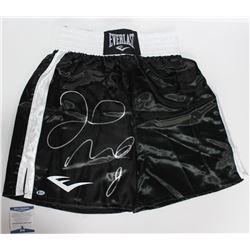 Floyd Mayweather Jr. Signed Everlast Boxing Trunks (Beckett COA)
