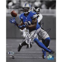 Calvin Johnson Signed Detroit Lions 8x10 Photo (Beckett COA)