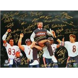 """Chicago Bears """"SB XX"""" LE 16x20 Photo Team-Signed by (31) with Mike Ditka, Willie Gault, William Perr"""