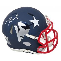 Tom Brady Signed New England Patriots AMP Speed Mini Helmet (Schwartz COA)