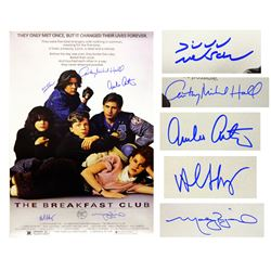 """""""The Breakfast Club"""" 24x36 Movie Poster Cast-Signed by (5) with Judd Nelson, Molly Ringwald, Anthony"""