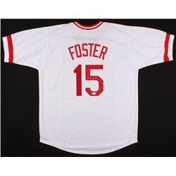 George Foster Signed Jersey (JSA COA)