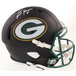 Brett Favre Signed Green Bay Packers Full-Size Matte Black Speed Helmet (Schwartz COA  Radtke Hologr