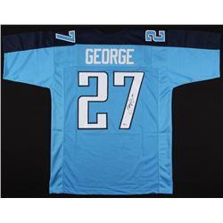 Eddie George Signed Jersey (Beckett COA)