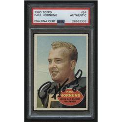 Paul Hornung Signed 1960 Topps #54 (PSA Encapsulated)