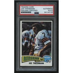 Joe Theismann Signed 1975 Topps #416 RC (PSA Encapsulated)