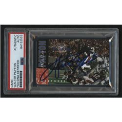 Walter Payton Signed 1995 Chicago Bears Calling Card (PSA Encapsulated)