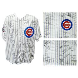 2016 World Series Chicago Cubs LE Jersey Team-Signed by (26) With Kris Bryant, Ben Zobrist, Addison