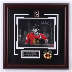 Duncan Keith Signed Chicago Blackhawks 18x18 Custom Framed Photo Display (Keith COA)